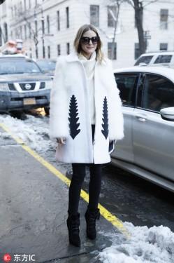 比下雪天还美的 就是这件白色大衣!