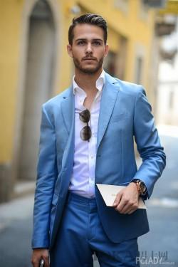 一抹靜謐藍怎么搭配都好看 16位潮男街拍示范