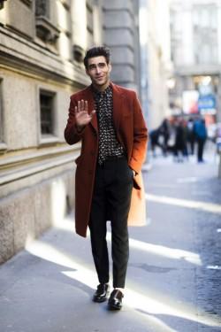 实用贴 18张街拍Look告诉你现在大衣流行这么搭
