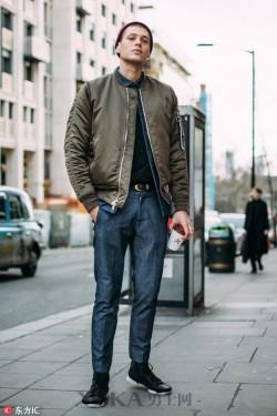伦敦街头的型男们都爱戴毛线帽! 我可有的学了