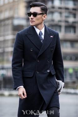 胡兵伦敦街头大片 英伦范绅士的养成记