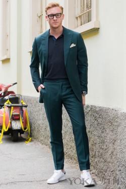 如何把西装穿出完美男神范儿?潮人博主出街示范