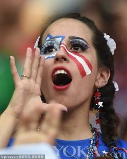 一眼一世界 球迷精致眼妆走俏