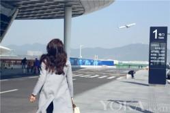 陈数现身机场 简约时尚展完美身材(2)