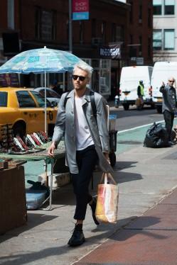 做个风一样的男子 简约长外套让街头造型更有看头(2)