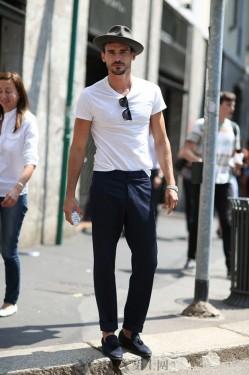 街头秒到我的男神都戴着一顶时髦圆帽