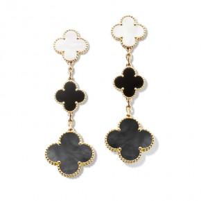 Van Cleef & Arpels Magic Alhambra耳环,3图案