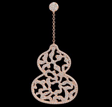 戴出福气来 Qeelin Wulu系列Wulu Lace耳环