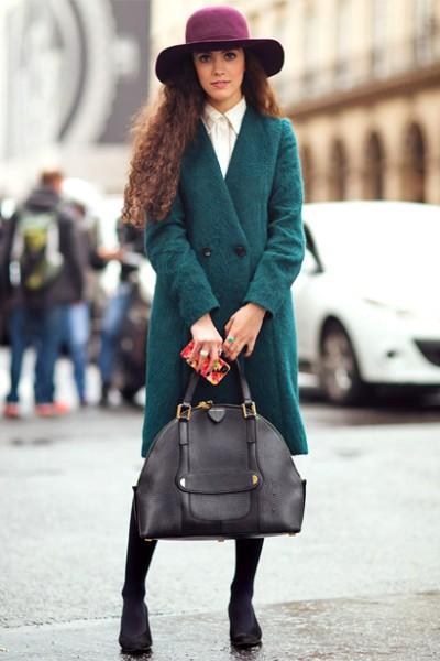 时尚OL秋冬出街必备 修身大衣显气质