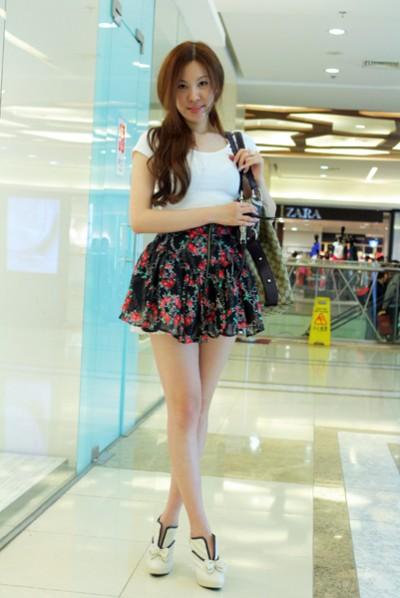 夏日街拍美女北京街头美女北京美女街拍小裙子  竖