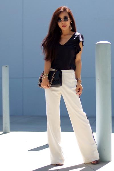 长裤职业美女生活照