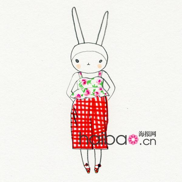 穿遍秀场时装的兔子 英国Fifi Lapin时尚兔子插画欣赏,看 模特菲菲兔