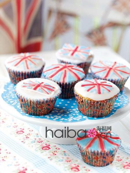 伦敦蛋糕店推出王室Couple结婚一周年纪念纸杯蛋糕 咬一口香甜